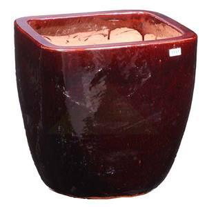 Vaso Cerâmica Vietnamita TTP3028M 40x40cm Marrom D&D