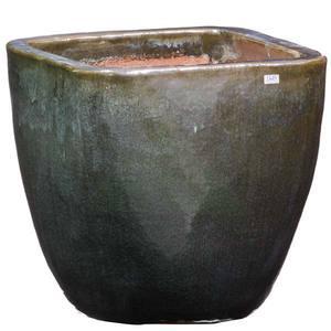 Vaso Cerâmica Vietnamita TTP3028M 40x40cm Verde D&D