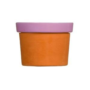 Vaso Cerâmica Violeta Glasura P 9x13cm Vasos & Cia