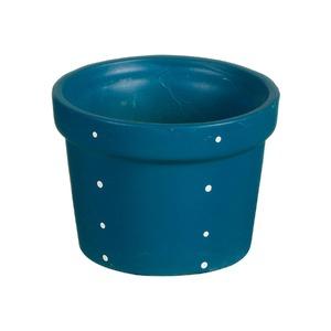 Vaso Cerâmica Violeta Petit Poá 11x15cm Azul Vasos & Cia