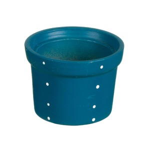 Vaso Cerâmica Violeta Petit Poá 9x13cm Azul Vasos & Cia