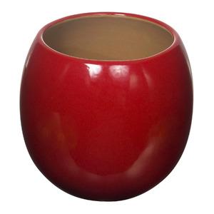 Vaso Cerâmico Esmaltado 2696VG Redondo Vermelho 28x28x26cm