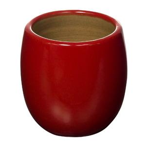 Vaso Cerâmico Esmaltado 2696VPP Redondo Vermelho 10x10x10cm