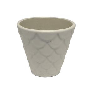 Vaso Cerâmica Florelle Redondo Bege Pequeno