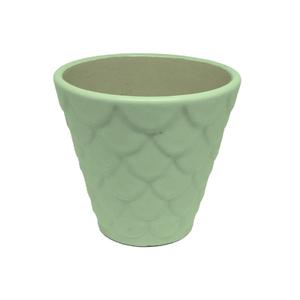 Vaso Cerâmica Florelle Redondo Verde Pequeno