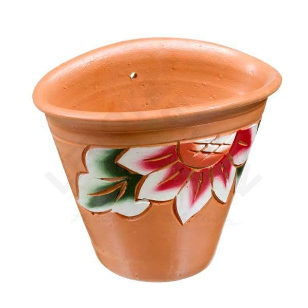 Vaso cer mica floral terracota grande leroy merlin for Vaso terracotta leroy merlin