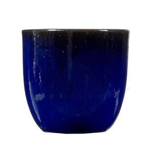 Vaso Cerâmico Redondo Vietnamita VTP2111 Azul 26x29cm Palash