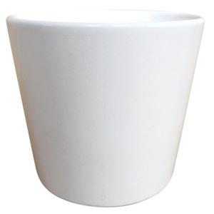 Vaso de Cerâmica Liso Geo Redondo Branco 15x15x13cm