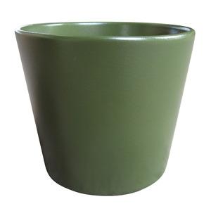 Vaso de Cerâmica Liso Spa Redondo Verde Escuro 13x13x11,50cm