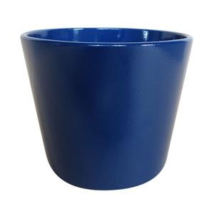 Vaso de Cerâmica Liso Tiles Redondo Azul 13x13x11,50cm