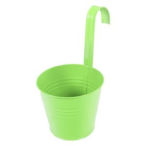 Vaso de Metal Varanda Redondo Verde 11,50x11,50x13,50cm