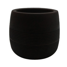Vaso de Polietileno Bollati Redondo Marrom 30x30x28cm