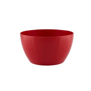 Vaso de Polietileno Bowl Redondo Vermelho 23x23x12cm