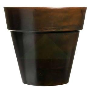 Vaso de Polietileno Ibiza Redondo Marrom 80x80x70cm