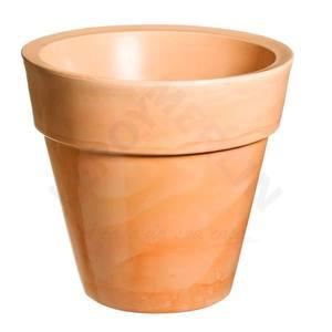 Vaso de Polietileno Ibiza Redondo Terracota 80x80x70cm