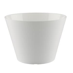 Vaso de Polietileno Lisboa Redondo Branco 20x20x15cm