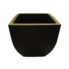 Vaso de Polietileno Malta Quadrado Marrom 30x30x30cm