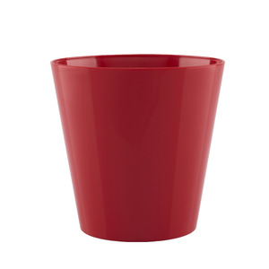 Vaso de Polietileno Porto Redondo Vermelho 14x14x14cm