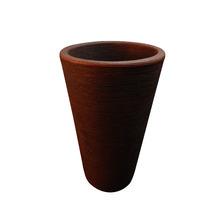 Vaso de Polietileno Terra Cônico Rusty 38x38x55cm