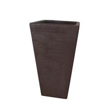 Vaso de Polietileno Terra Trapézio Rusty 34x34x55m