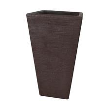 Vaso de Polietileno Terra Trapézio Rusty 40x40x60m