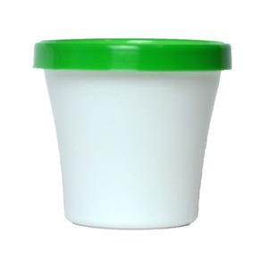 Vaso de Polipropileno Veneza Redondo Branco e Verde 16x16x13,50cm