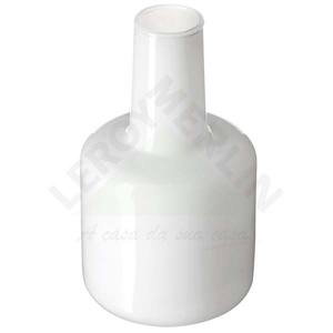 Vaso de Vidro 11x20cm Branco Luvidarte