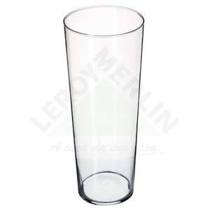Vaso de Vidro 45x20cm Incolor Luvidarte