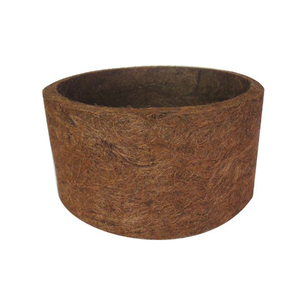 Vaso fibra de coco marrom m dio leroy merlin for Fibra ceramica leroy merlin