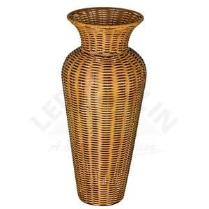 Vaso Fibra Sintética Anis Ratan I Bege 36x88cm Shangai