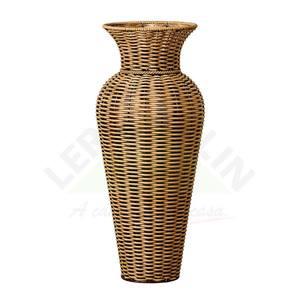 Vaso Fibra Sintética Anis Ratan II Bege 34,50x78cm Shangai