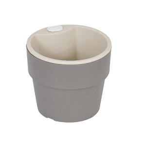 Vaso Plástico Autoirrigável Médio Chumbo