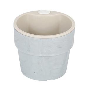 Vaso Plástico Autoirrigável Pequeno Concreto