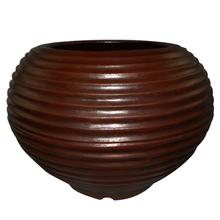Vaso Plástico Bromélia Redondo Marrom Extra Grande