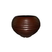 Vaso Plástico Bromélia Redondo Marrom Médio