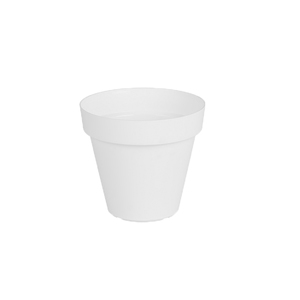 Vaso Plástico Capri Branco Mini