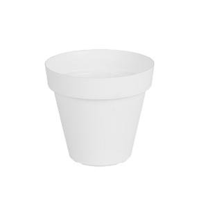 Vaso Plástico Capri Branco Pequeno