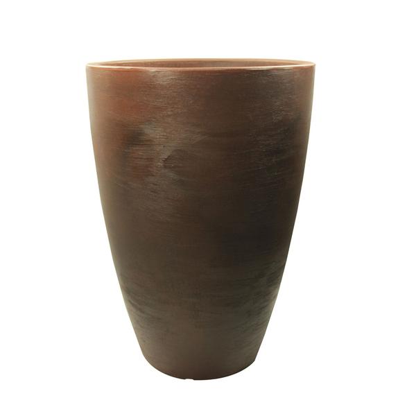 Vaso pl stico malta cone marrom m dio leroy merlin for Vaso terracotta leroy merlin