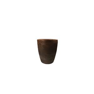 Vaso Plástico Malta Cone Rusty Médio