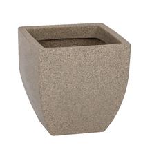 Vaso Plástico Malta Trapézio Pedra Pequeno