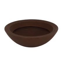 Vaso Plástico Terra Bowl Marrom Extra Grande