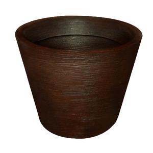 Vaso pl stico terra cone marrom grande leroy merlin for Plantas decorativas en leroy merlin