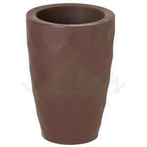 Vaso Polipropileno Safira cônico 38x25cm Tabaco Nutriplan