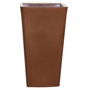 Vaso Resina Cônica Alta Cairo 65X36cm Chocolate Alpearitana