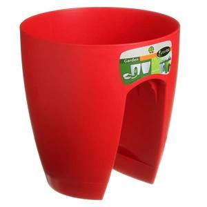 Vaso Resina para Sacadas 29x30cm Vermelho Elgo