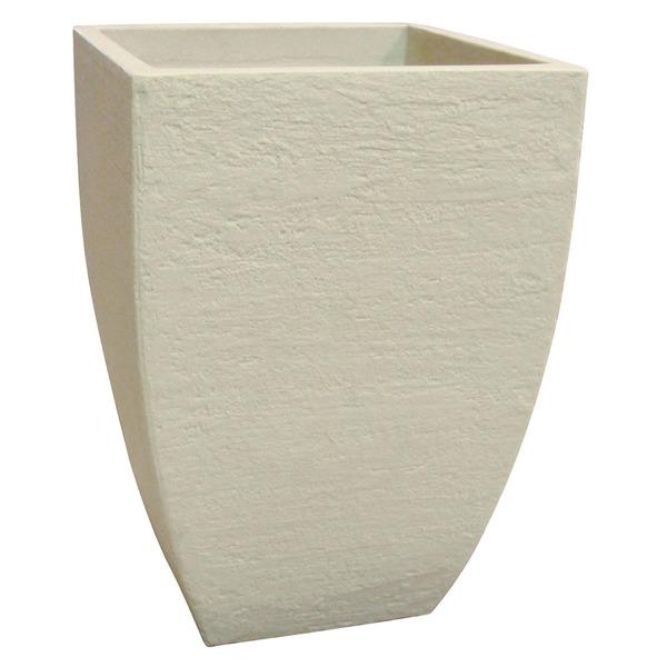 Vaso pl stico moderno cimento grande leroy merlin for Plantas de plastico para decoracion