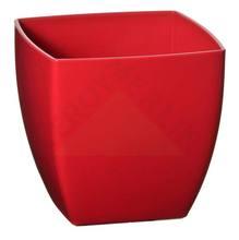 Vaso Resina Siena 14x14cm Vermelho Vasart