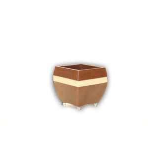 Vaso Resina Urna Alta com Rodas 43X40cm Chocolate Alpearitana