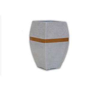 Vaso Resina Urna Alta Paris Pequeno 67X39cm Granito Alpearitana