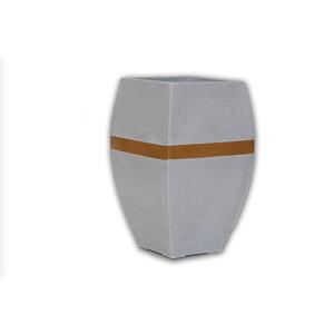 Vaso Resina Urna Alta Paris Pequeno 86X44cm Granito Alpearitana